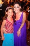 """Emily Bear, who just released """"Always True"""" album poses with Janeen Mansour at Noble Awards."""