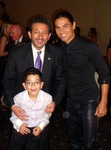 Noble Awards Producer, his son and Ziad Batal with Julio Iglesias Jr. (photo by www.MayoCommunications.com)(