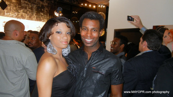 On the red carpet with Junior Wright and International Model Diaomnd McClain